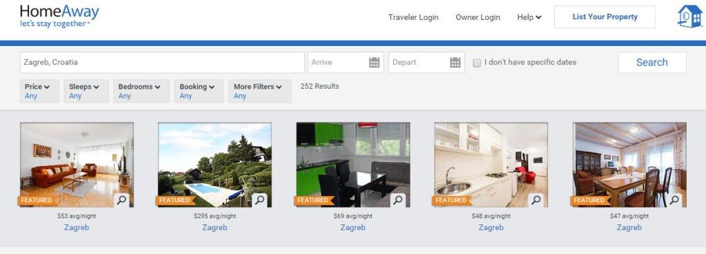 I Zagreb je zastupljen na stranici HomeAway.com