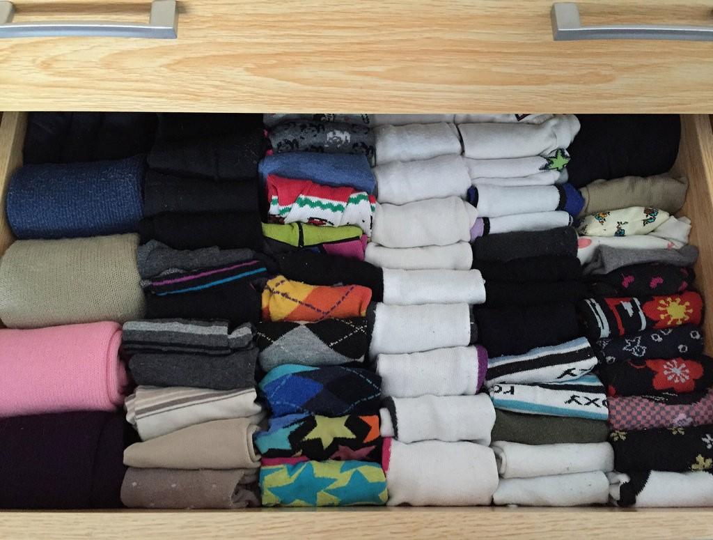 KonMari čišćenje uključuje posebno slaganje odjeće Foto: Photopin